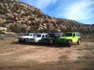 Just the Jeeps. Because that's how this crew rolls.