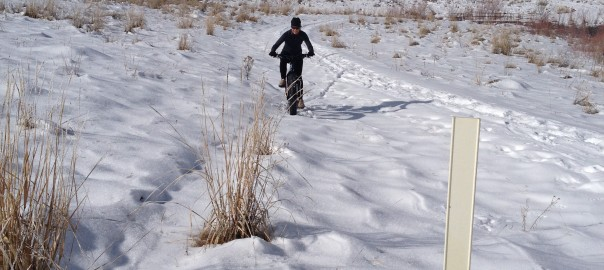 elisa jones riding near monticello in winter fat bike