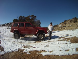 Me and the jeep at the start of Billing's canyon
