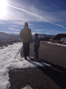 """We walked back to the VC on the campground road. He started singing """"The 12 Days of Christmas"""". I joined him. It was maybe my favorite moment of the day."""