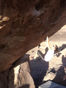 Me bouldering on the millennium Falcon near Grand Junction.