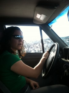 Here I am in full Jeeping mode. Usually I'm smiling but I was concentrating a lot today. What a physique, right?