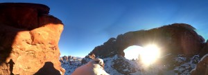 A little panorama from behind North Window. Check out my shadow in the far left corner.