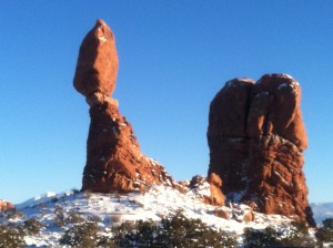 traditional shot of Balanced Rock