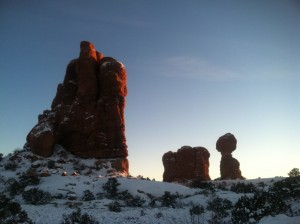 A less-than-typical shot of Balanced Rock