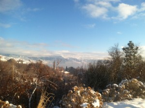 The view toward the Wasatch from Capital hill. City Creek canyon is on the left from this spot.