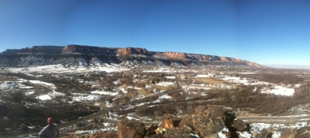 Riggs Hill grand junction panorama winter