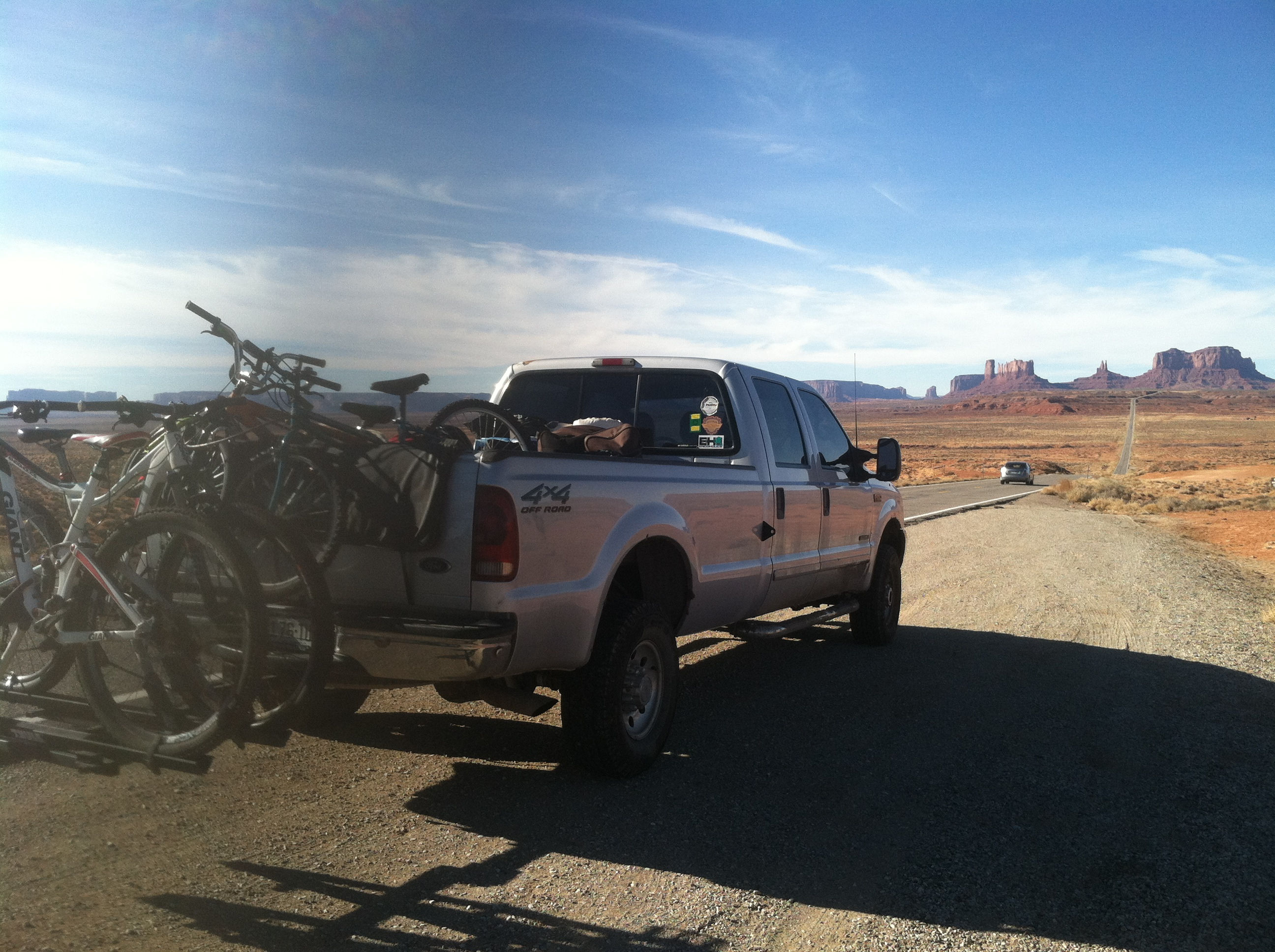 Silverton, with Monument Valley in the background.