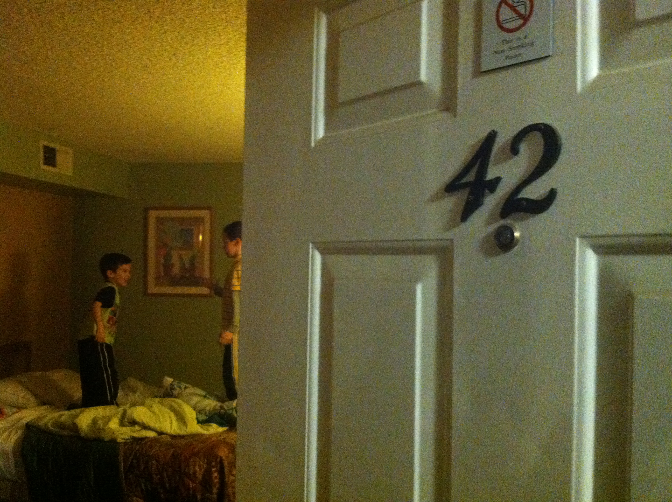 Our hotel room in Prescott.