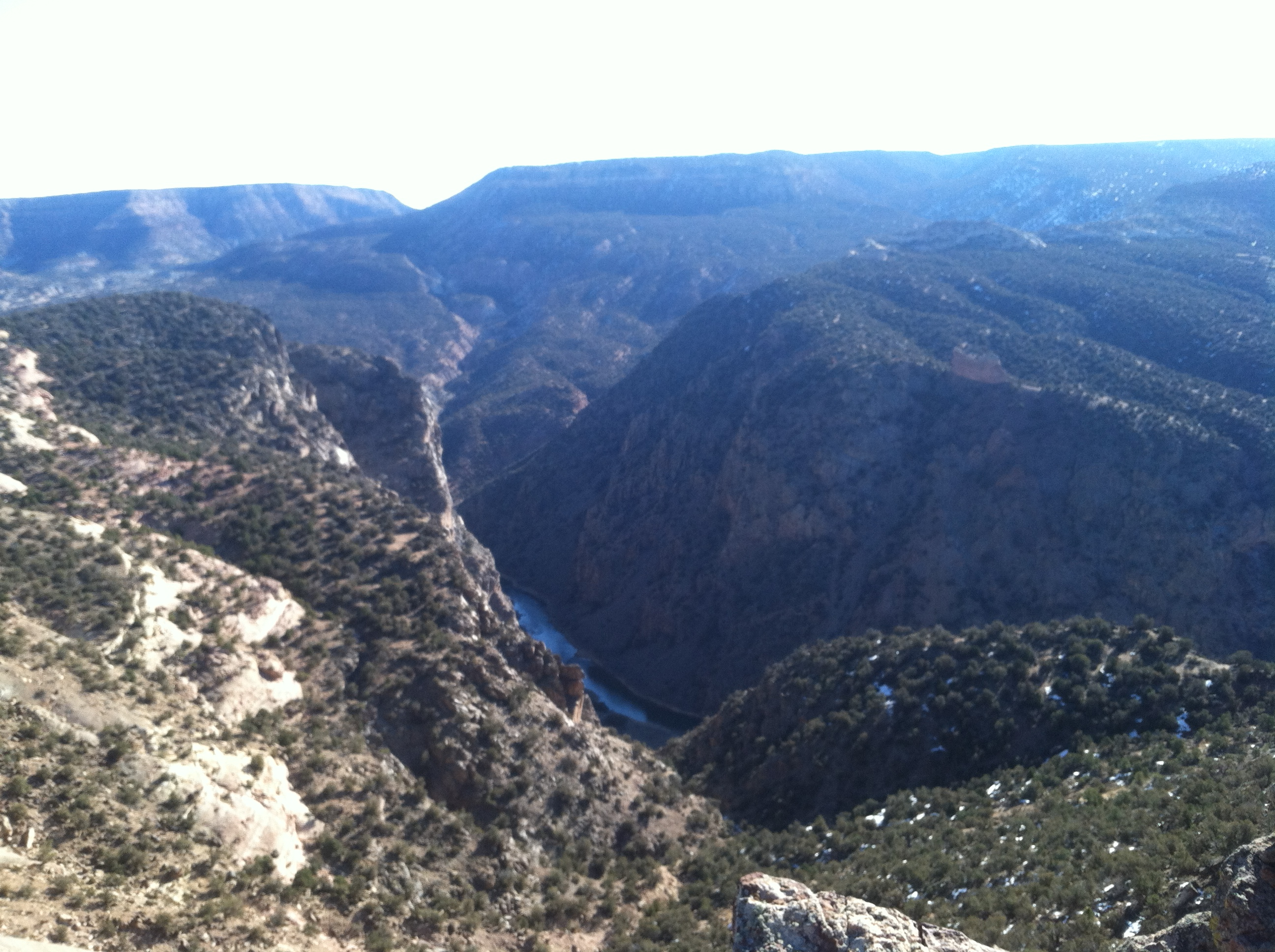 Looking down into the Gunnison