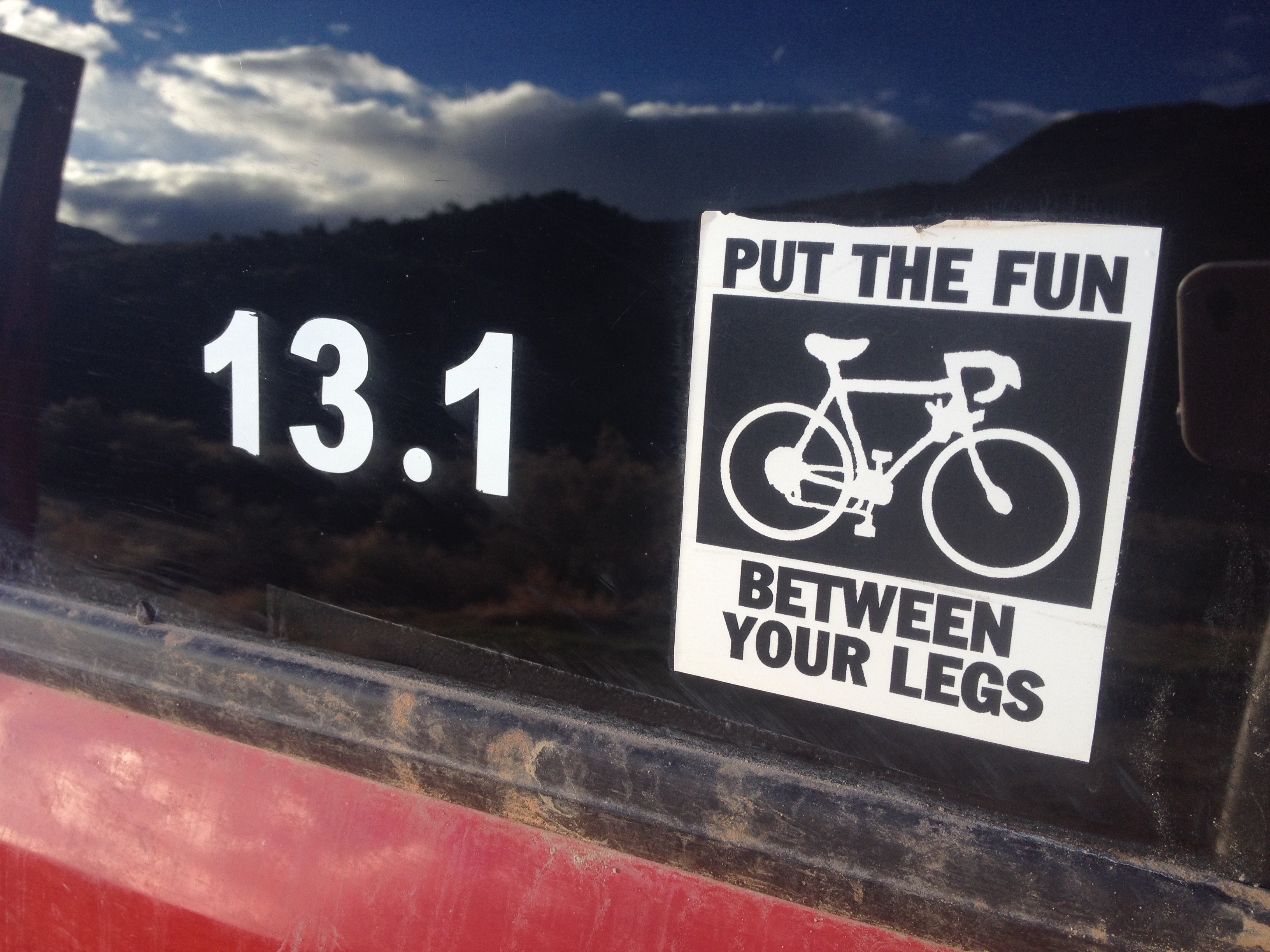 Stickers on my Jeep.