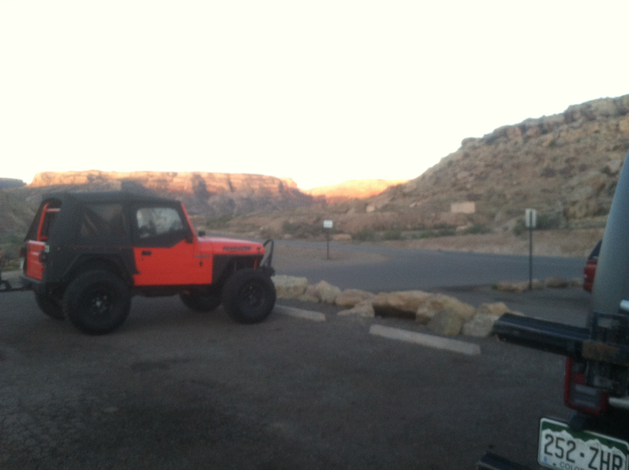 "Chris's little YJ. He said it's his ""Summer Convertable"""