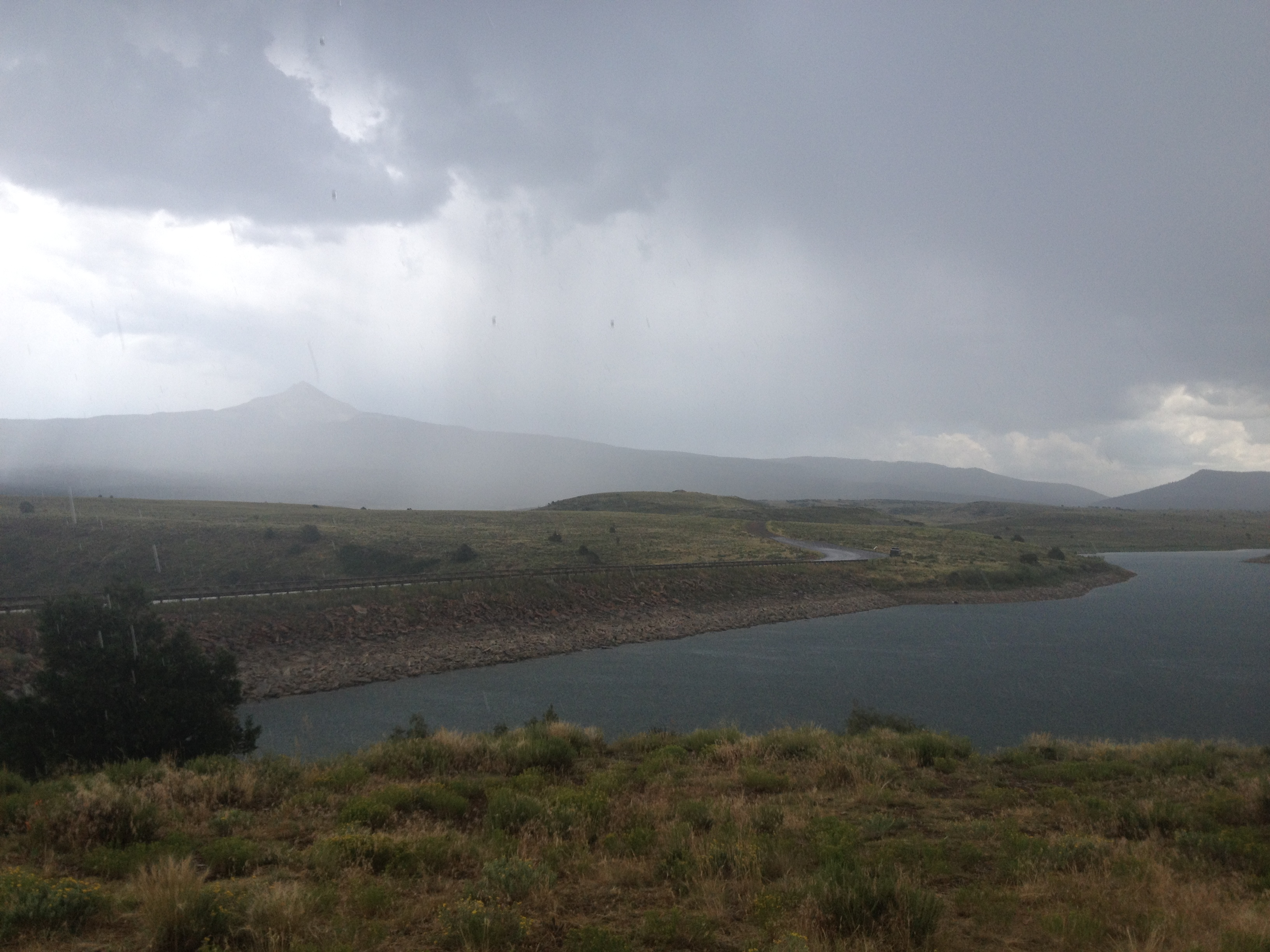 The second storm approaching from Lone Cone (good thing we got down!)