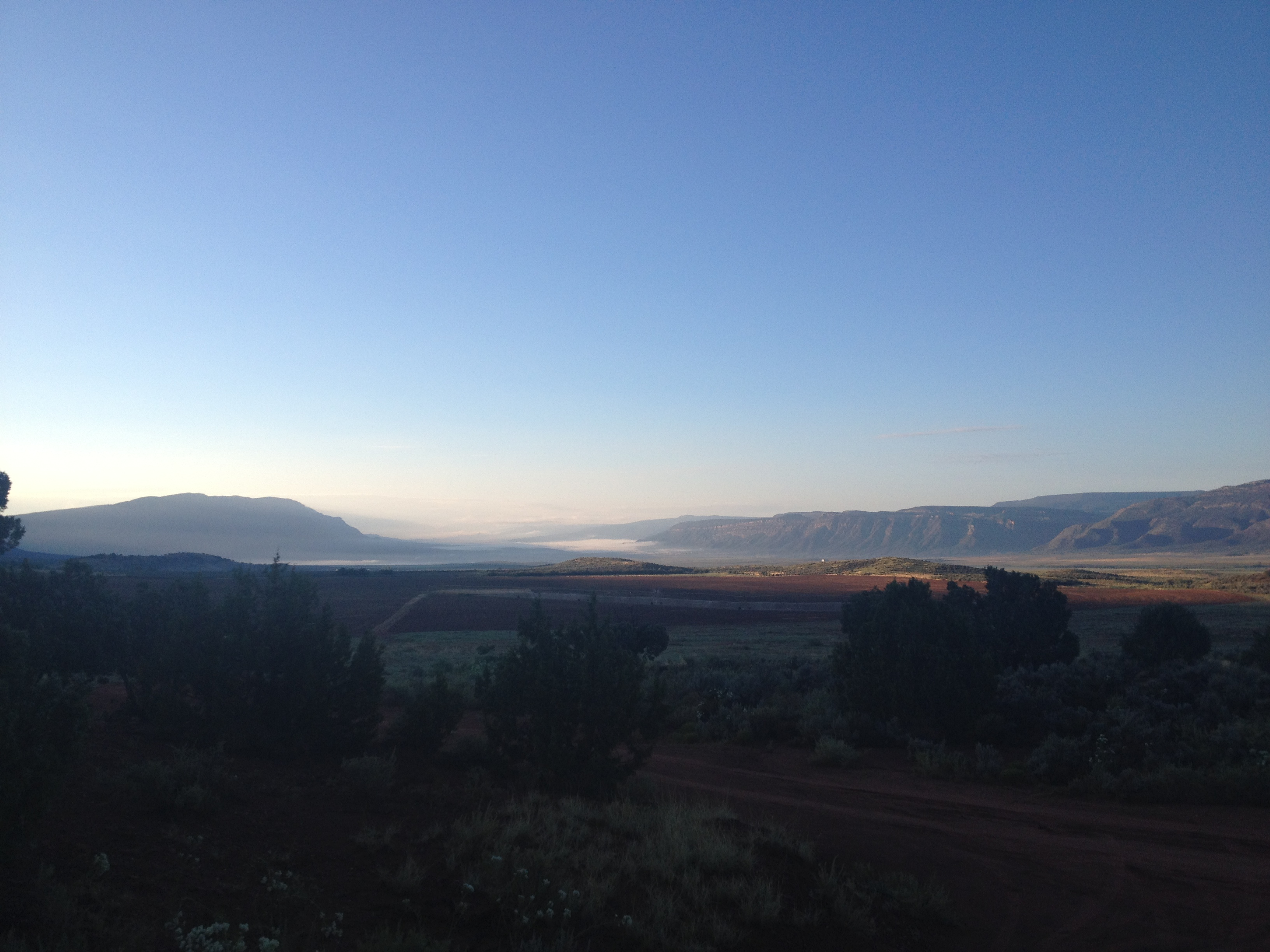 Misty morning in Paradox Valley