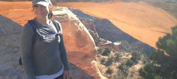 Elisa Jones eye of the dragon Rattlesnake Arches Hike Grand Junction, Colorado panorama
