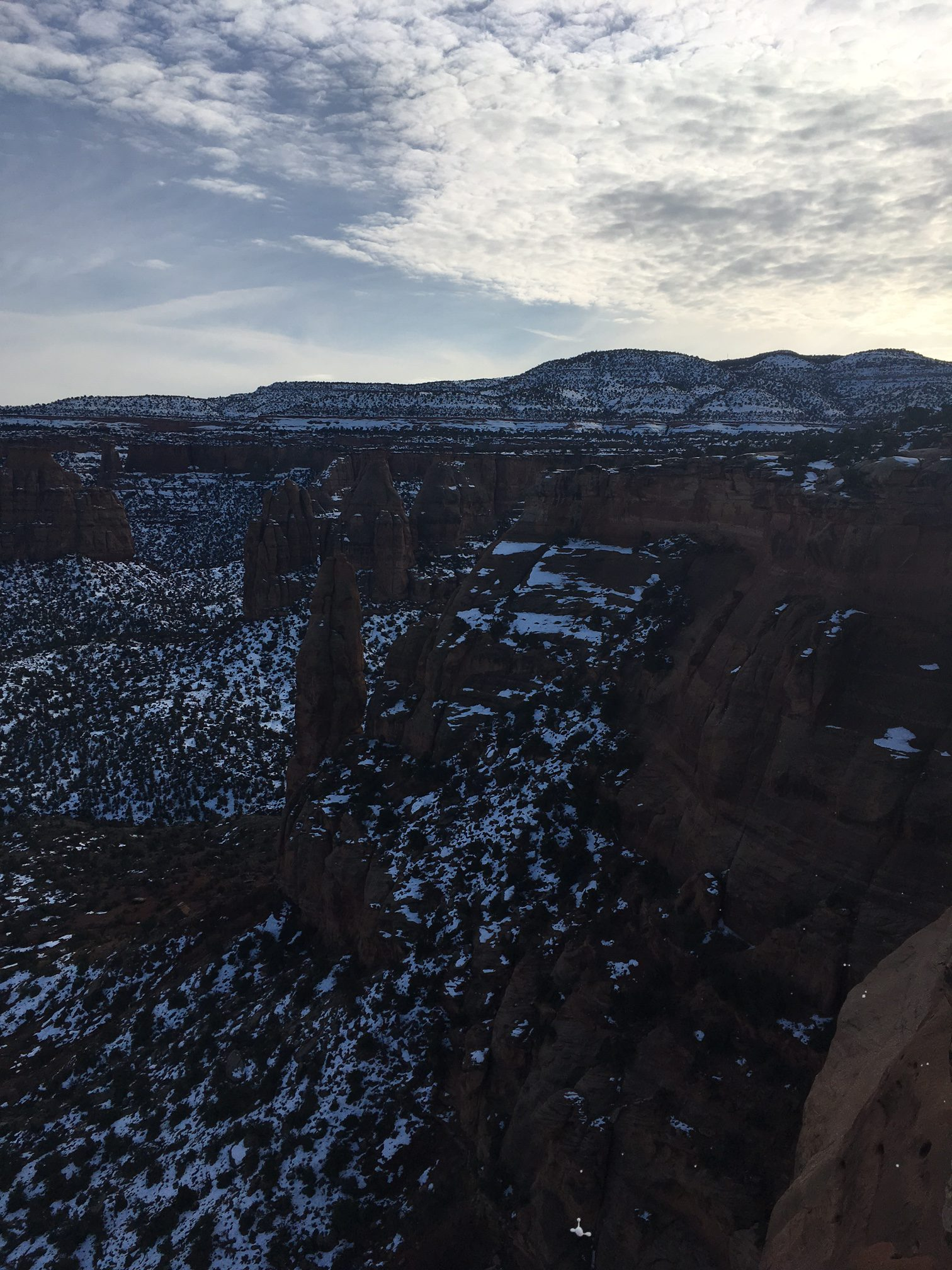 Wedding canyon in winter colorado national monument