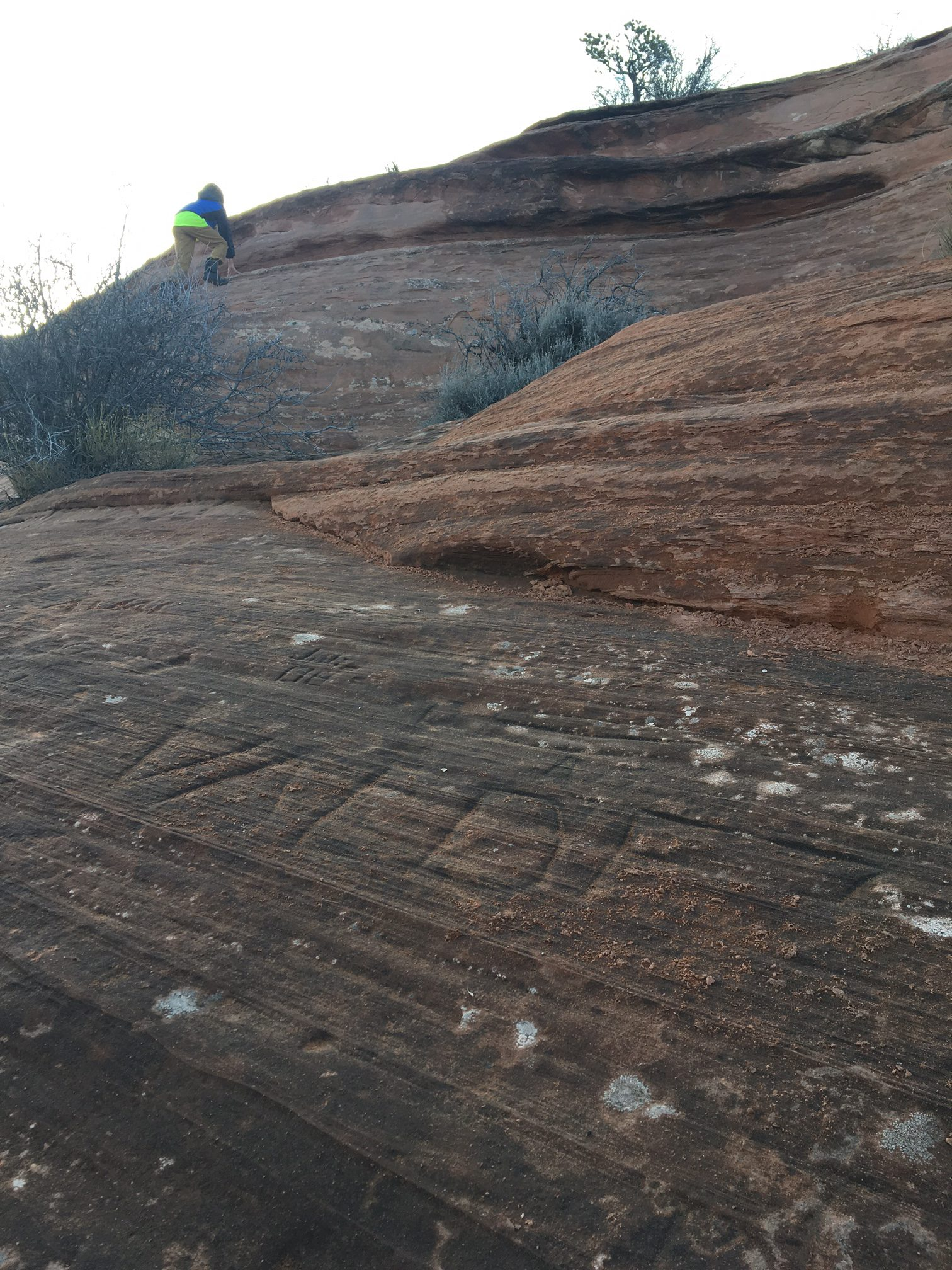 MORE grafiti on the saddlehorn formation