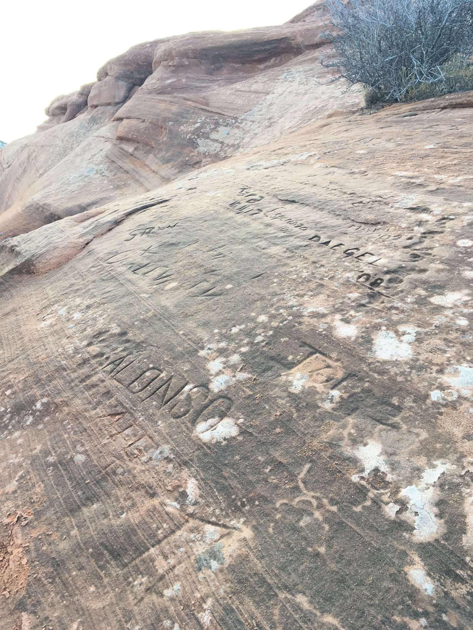 graffiti on the saddlehorn, colorado national monument