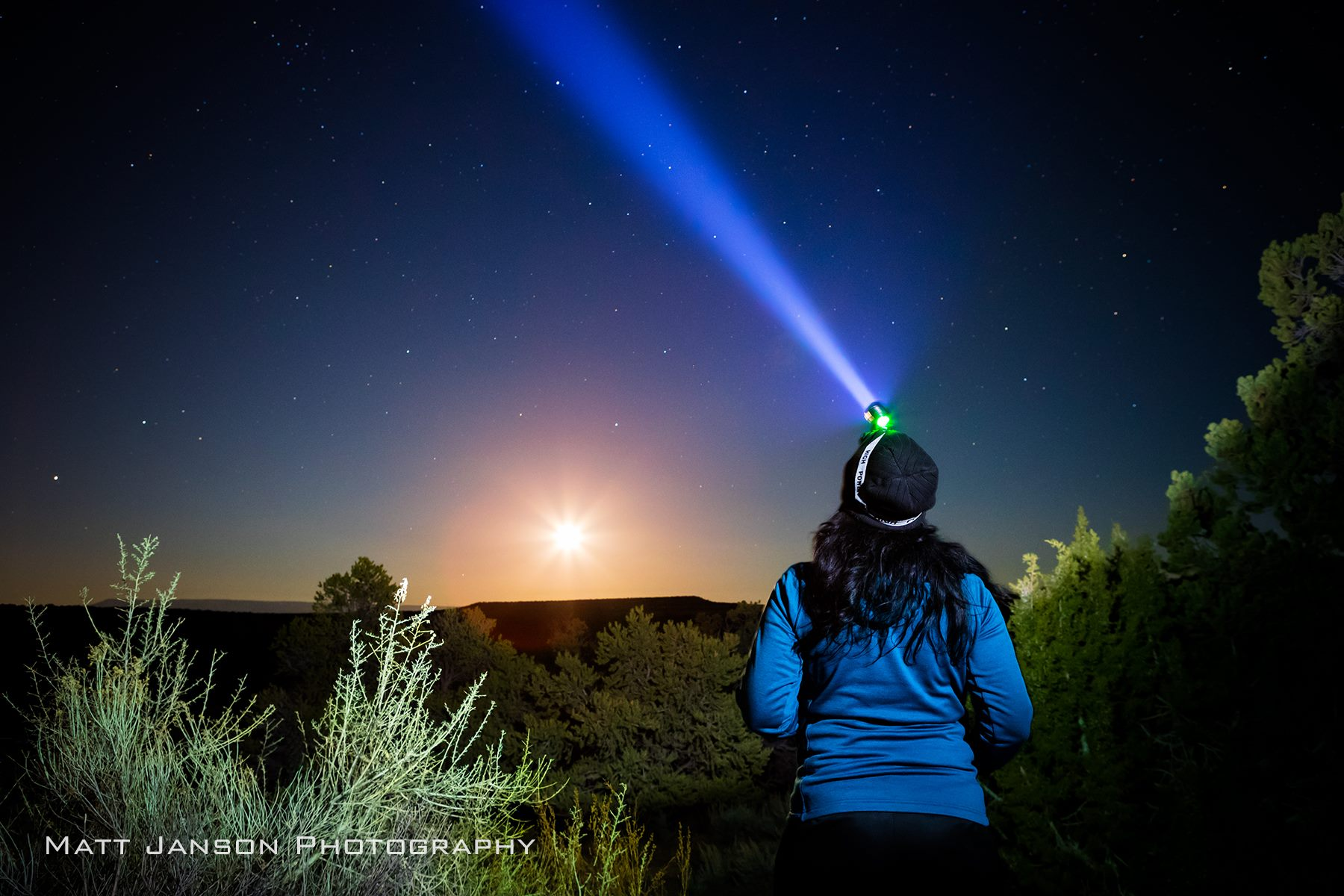 matt janson photography elisa jones no thoroughfare canyon starlight moon winter colorado national monument