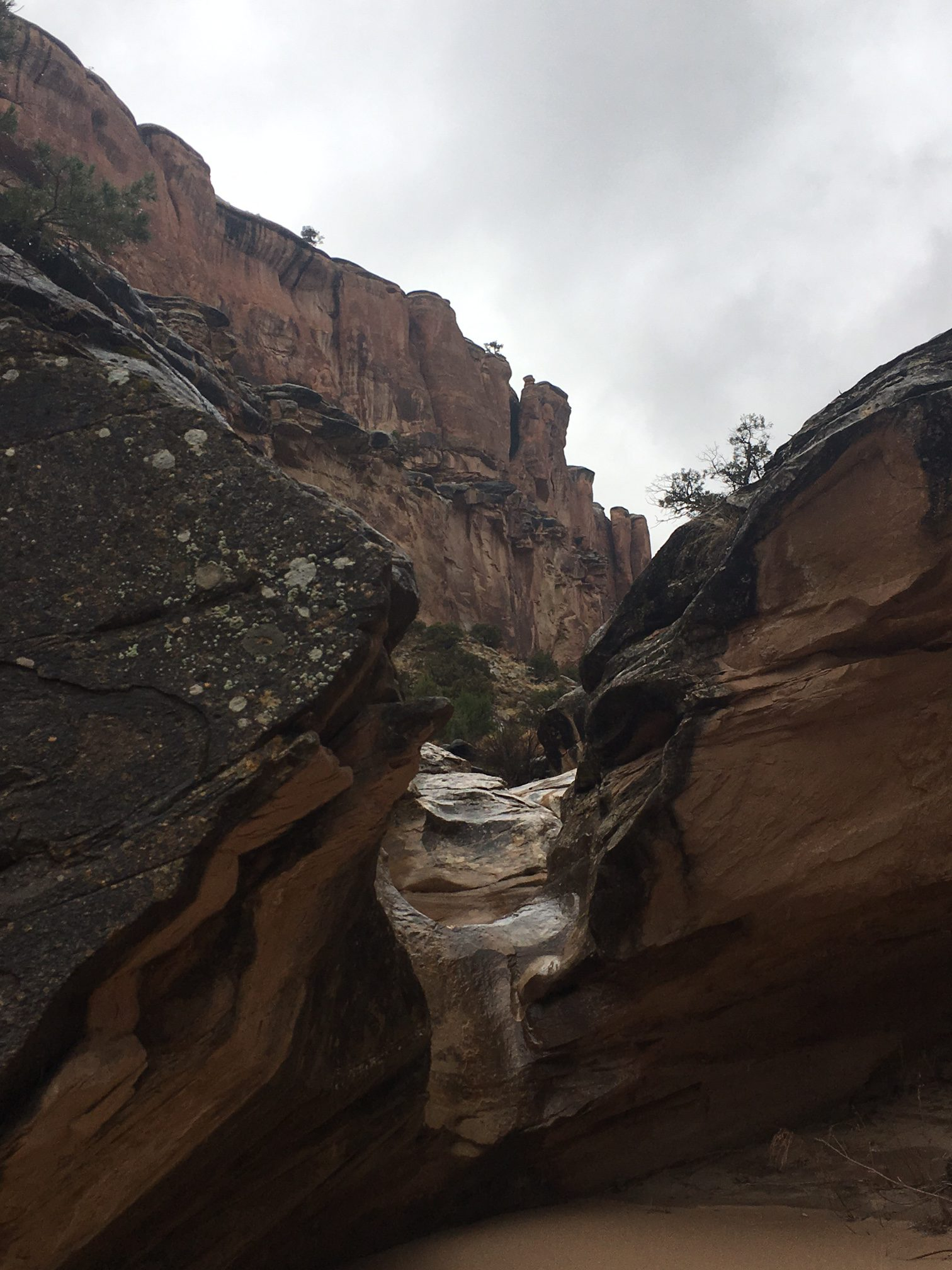 water falling in echo canyon colorado national monument