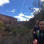 kids hiking in upper ute canyon colorado national monument